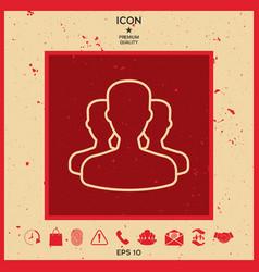 team - line icon vector image