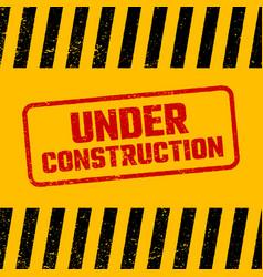 under construction design website development vector image