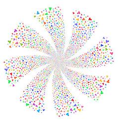 User fireworks swirl flower vector