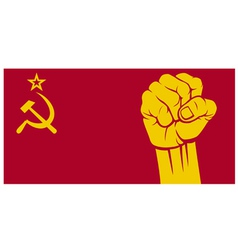 Ussr fist - flag of ussr vector