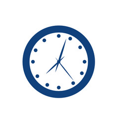 Wall clock isolated vector