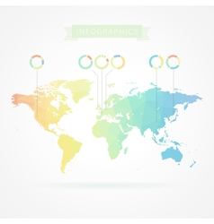 World map with elements of infographics vector