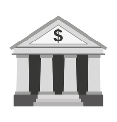Bank building construction silhouette icon vector