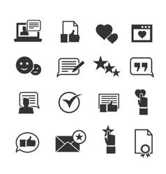 Consumer loyalty icons Customers testimonials vector image