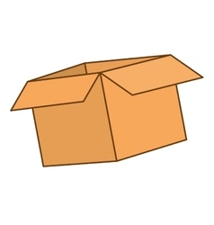 Cardboard box icon image vector