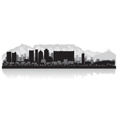 Cape Town city skyline silhouette vector image