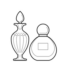 Set of perfume bottles icon vector