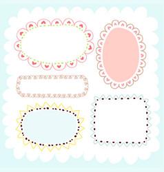 Doodles cute elements vector