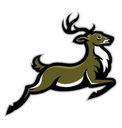 running deer mascot vector image