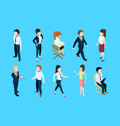 different business peoples standing and sitting in vector image