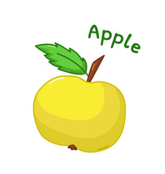 Isolated apple icon vector