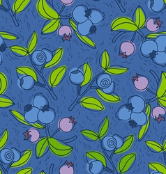 Blueberry and bilberry pattern vector