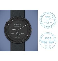 Smartwatch app template vector image