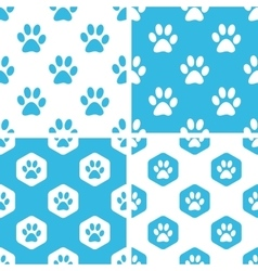 Animal paw patterns set vector