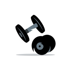 Dumbbells cartoon vector
