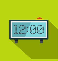 Alarm clock icon flat style vector
