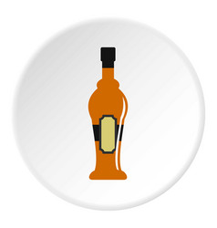 Alcohol bottle icon circle vector
