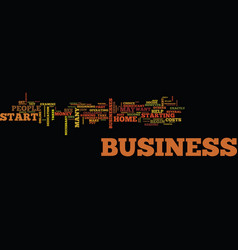 Are you ready to start your own home business vector