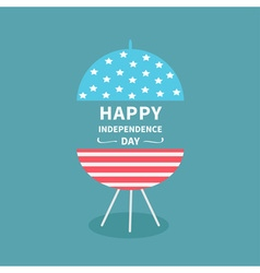 bbq Independence day vector image