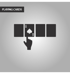 Black and white style hand playing cards vector