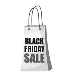 Black Friday shopping bag icon vector image
