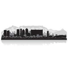 Cape town city skyline silhouette vector