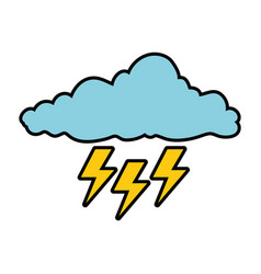 cloud with rays storm vector image vector image