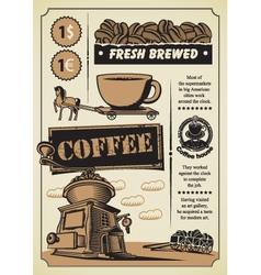 coffee theme vector image
