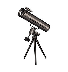color sketch telescope vector image