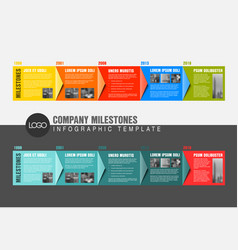 colorful infographic timeline report templates vector image vector image