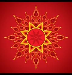 creative diwali greeting card design vector image
