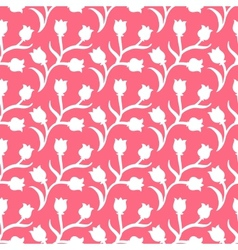 Ditsy floral pattern with small white tulips vector