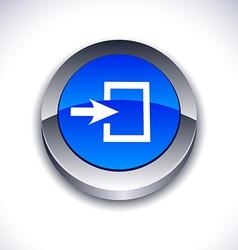 Entrance 3d button vector