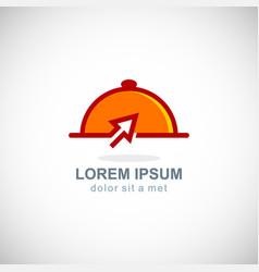 fast food online delivery logo vector image