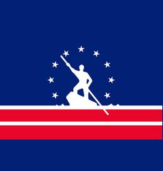 Flag of richmond in virginia usa vector