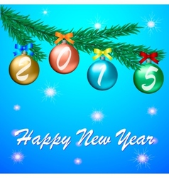 Happy new year 2015 celebration greeting card vector image