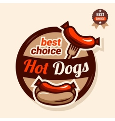 hot dog logo vector image vector image