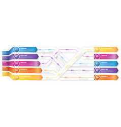infografics arrows shuffled vector image