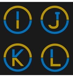 Letter logo set vector image vector image