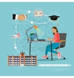 Online education concept in vector