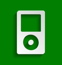 Portable music device paper whitish icon vector