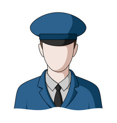 postmanmail and postman single icon in cartoon vector image
