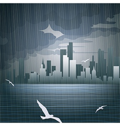 Rainy day vector image vector image