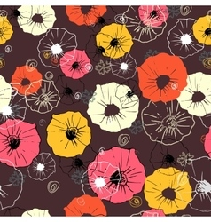 Seamless floral pattern Colorful flower vector image vector image