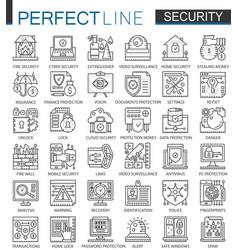 security outline mini concept symbols data pc vector image
