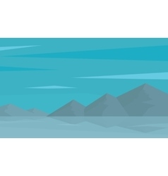 Silhouette of mountain and reflection in water vector