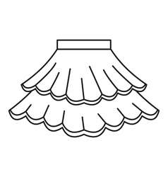 Skirt icon outline style vector