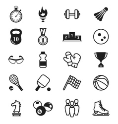 Sports Icons items inventory vector image