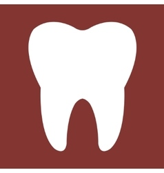 Tooth red Icon vector image vector image