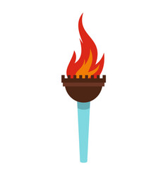 torch icon isolated vector image